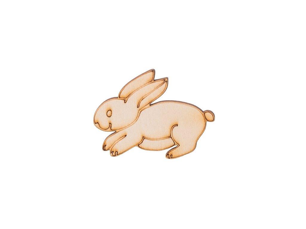 Dřevěný zajíček 4,5 x 6 cm
