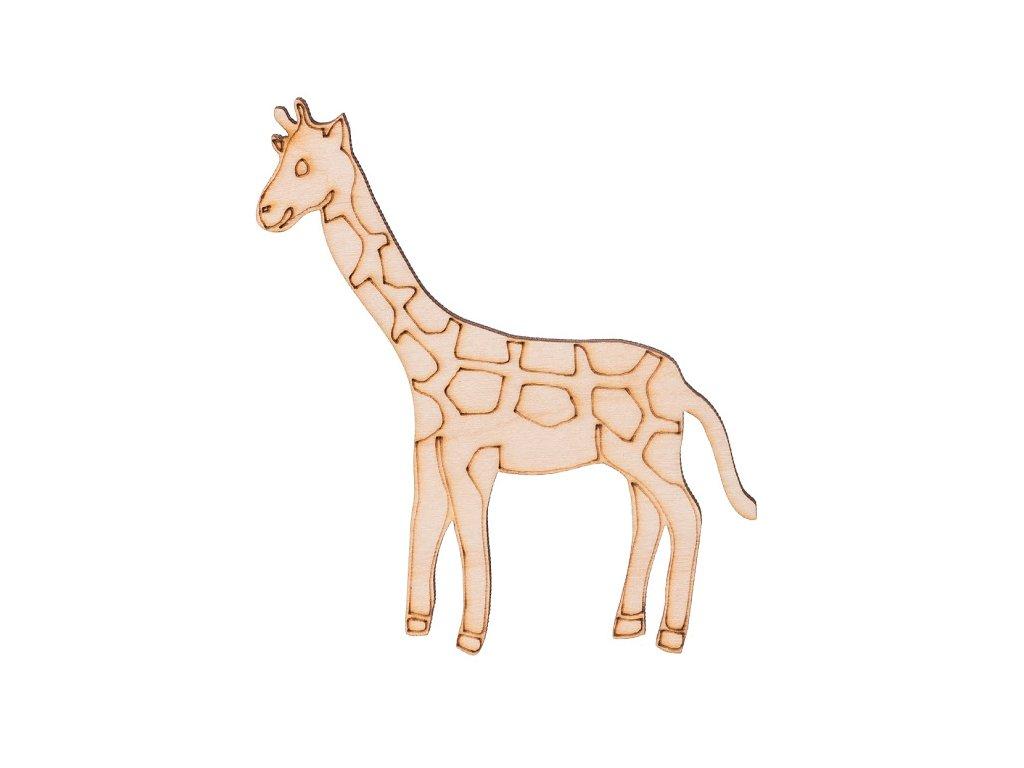 Dřevěná žirafa 10 x 8,5 cm