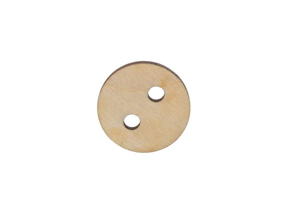 Dřevěný kulatý knoflík velký 2,5 cm