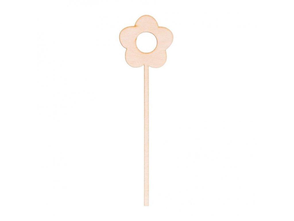 Dřevěná zapichovací ozdoba - květina I