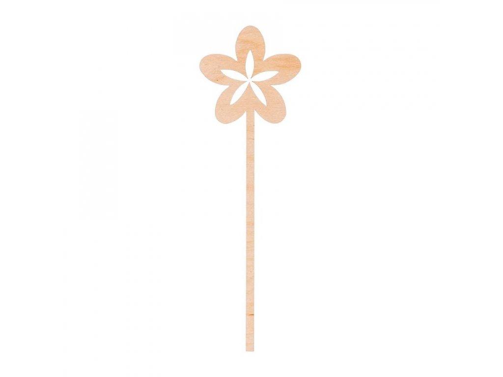 Dřevěná zapichovací ozdoba - květina II