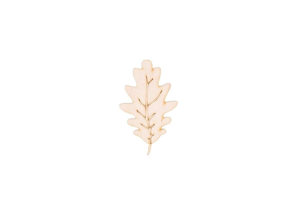 Dřevěný list I 8 x 6 cm