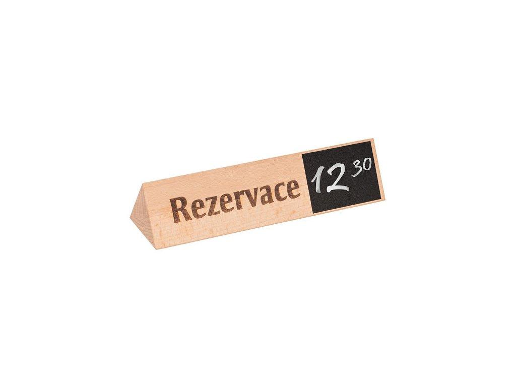 Dřevěný stojan rezervace 5 x 5 x 19 cm