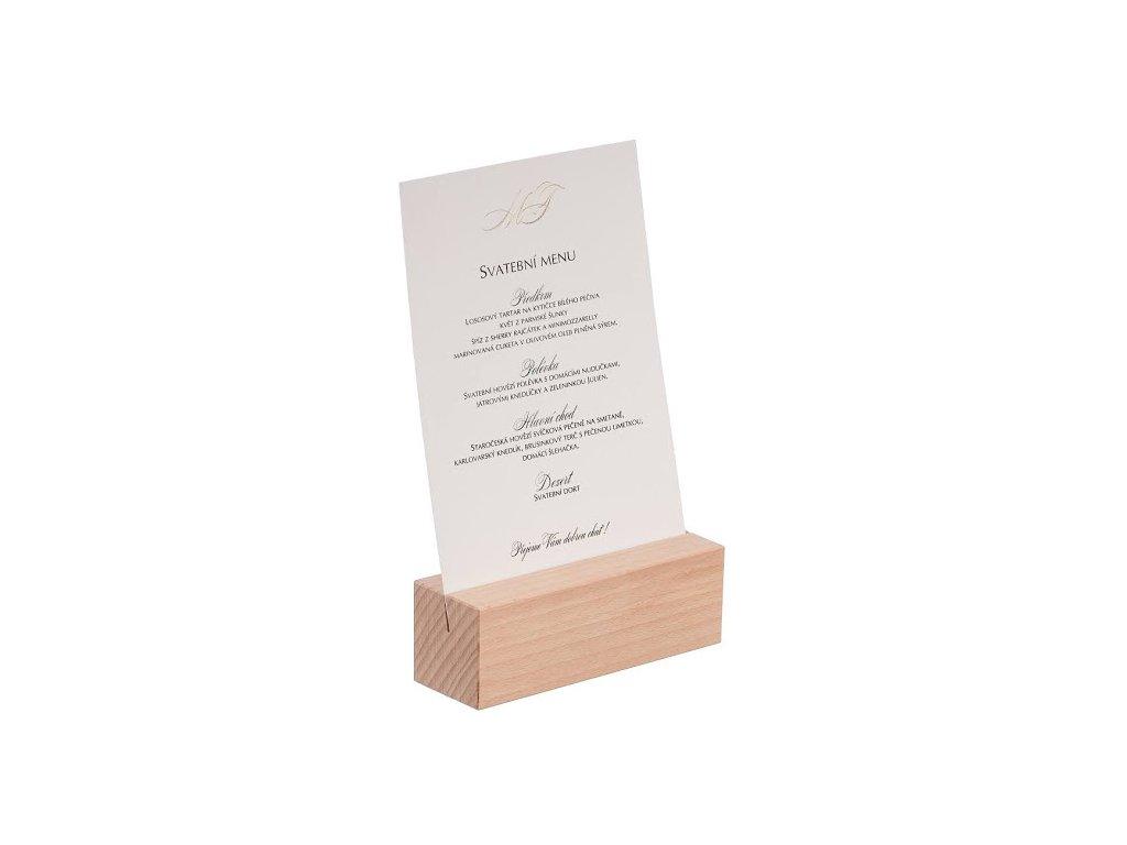 Dřevěný stojan na menu A5 I