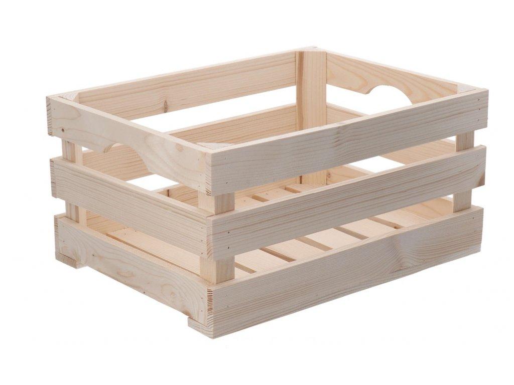 Dřevěná bedýnka 40 x 30 x 20 cm