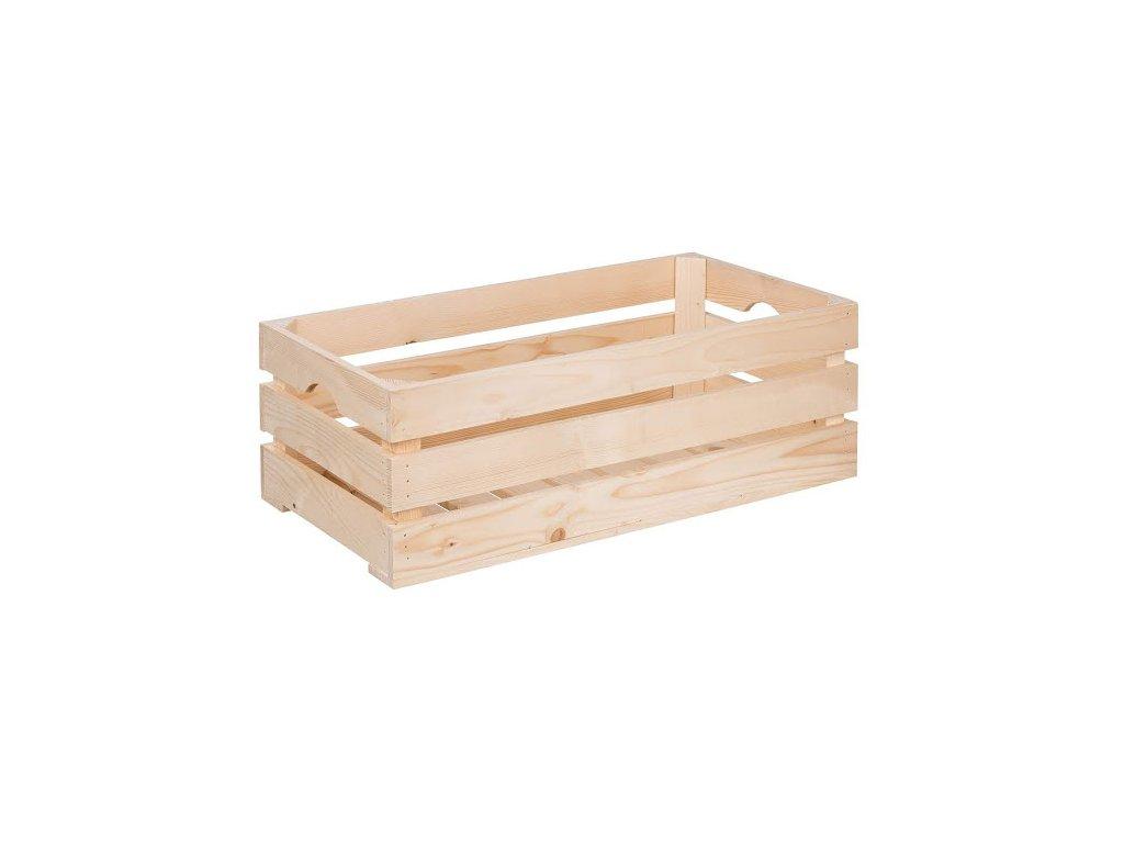 Dřevěná bedýnka 60 x 30 x 20 cm
