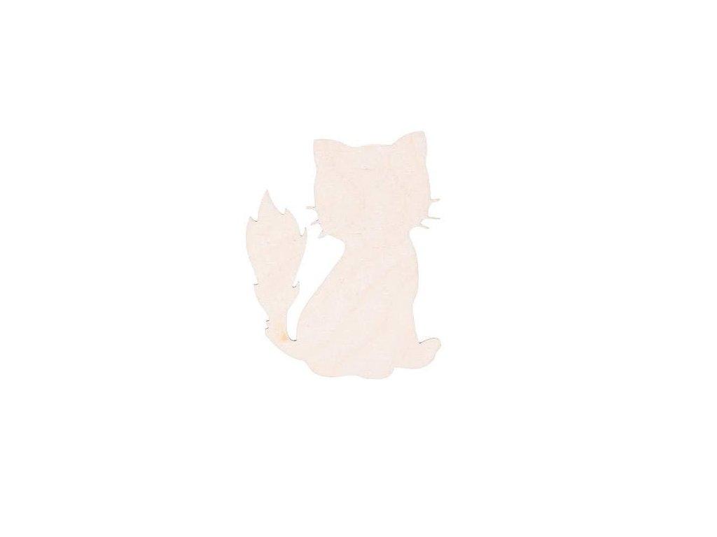 Dřevěná kočka 8 x 6.5 cm