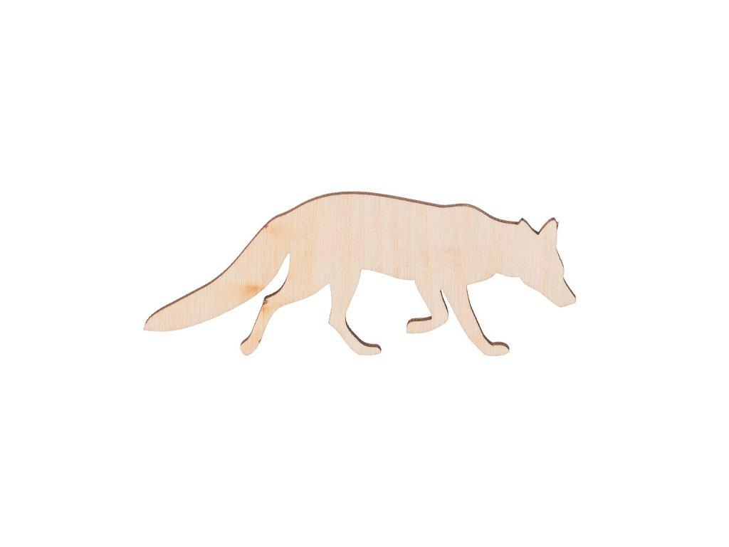 Dřevěná liška 9 x 3.5 cm