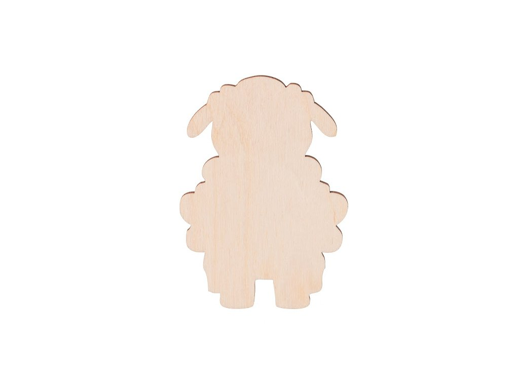 Dřevěná ovečka 9 x 6 cm