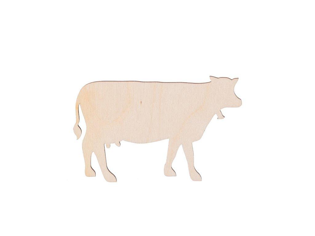 Dřevěná kráva 10 x 6 cm