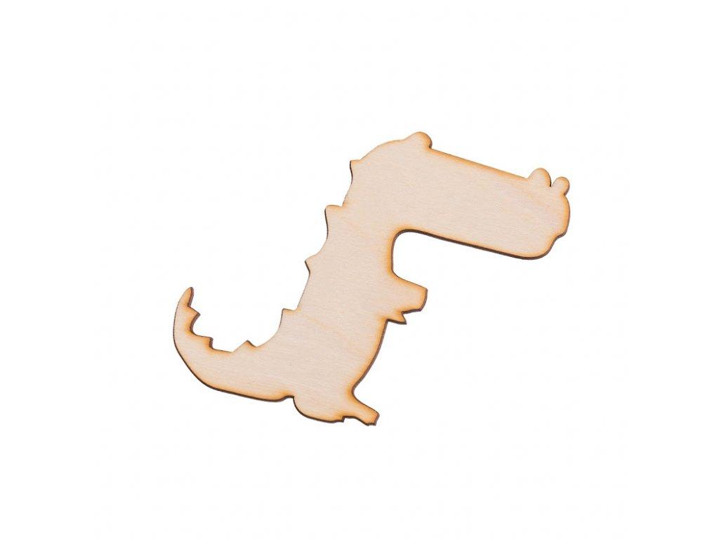 Dřevěný krokodýl 10 x 8.5 cm