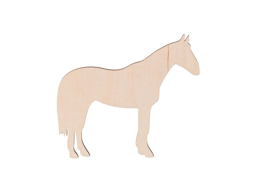 Dřevěný kůň 10 x 9 cm