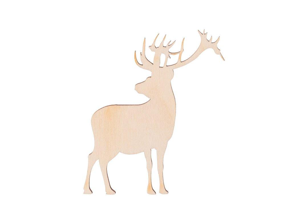 Dřevěný jelen 10 x 9 cm