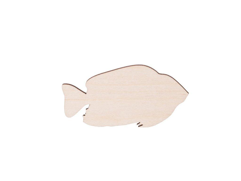 Dřevěná ryba 7 x 3.5 cm