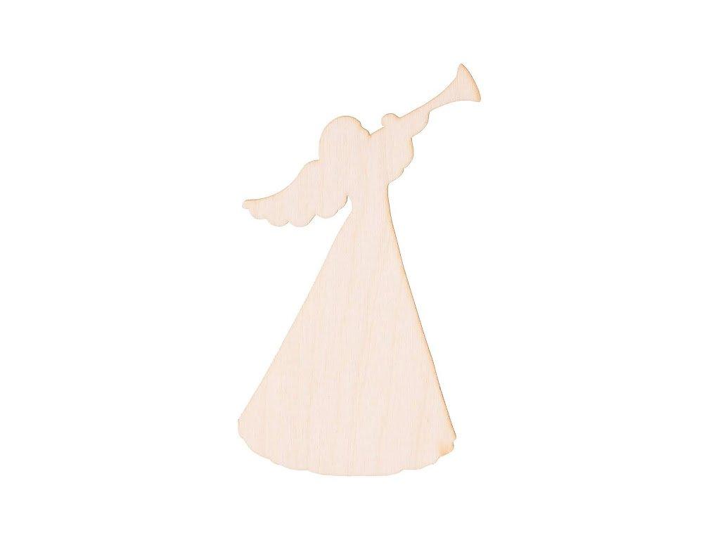 Dřevěný anděl VI 12.5 x 6.5 cm
