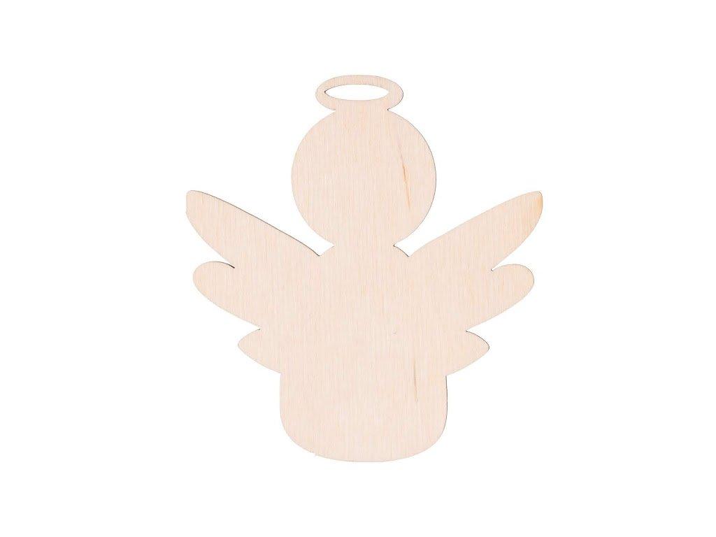 Dřevěný anděl VII 10 x 9 cm