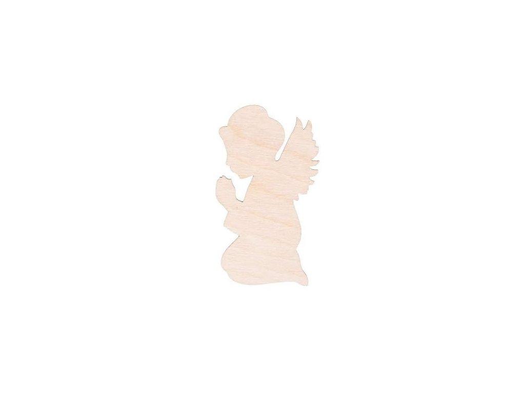 Dřevěný anděl IX 8 x 4.5 cm