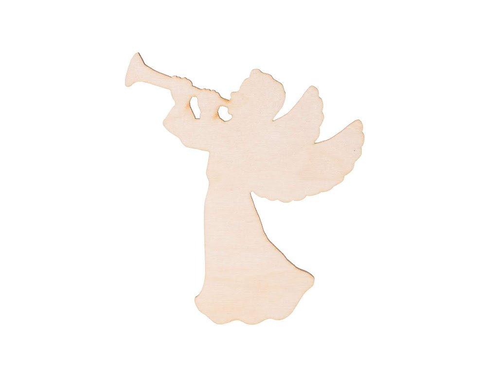 Dřevěný anděl X 10 x 9 cm