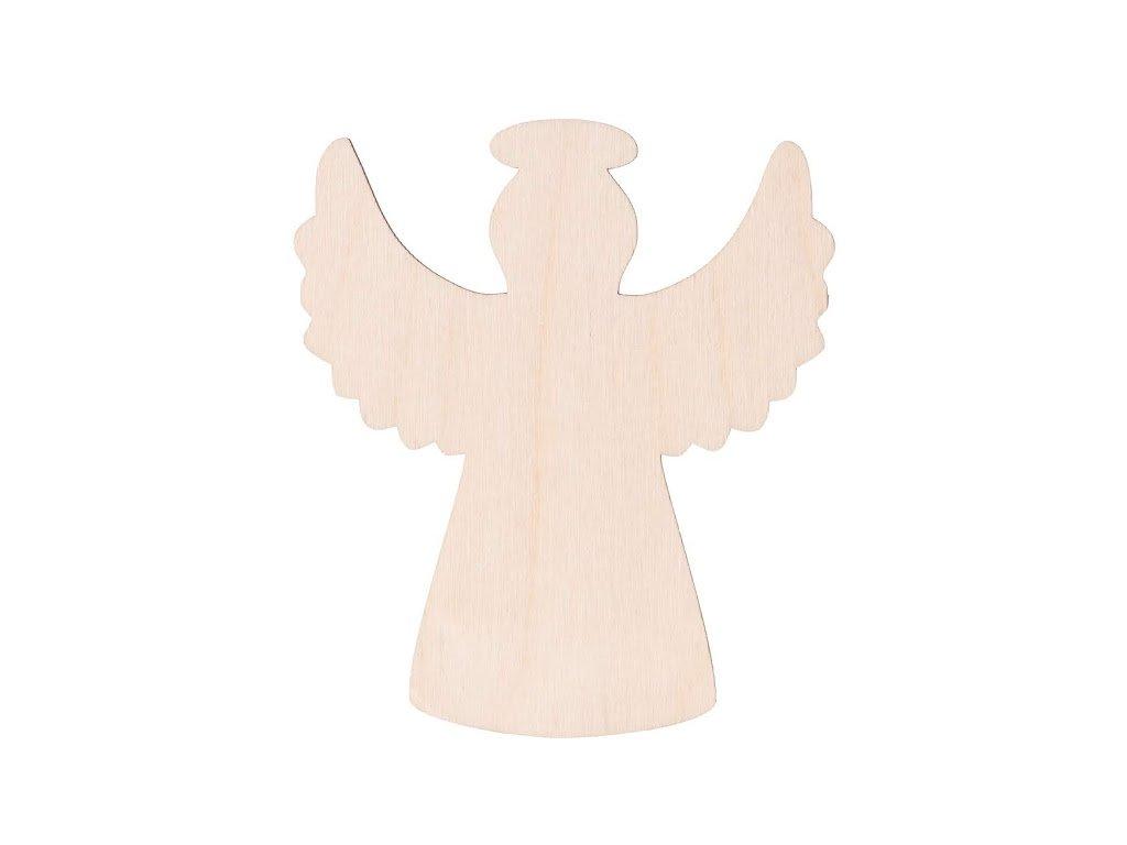 Dřevěný anděl XI 10 x 9 cm