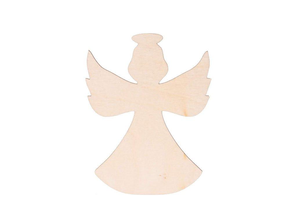 Dřevěný anděl XIII 10 x 8 cm