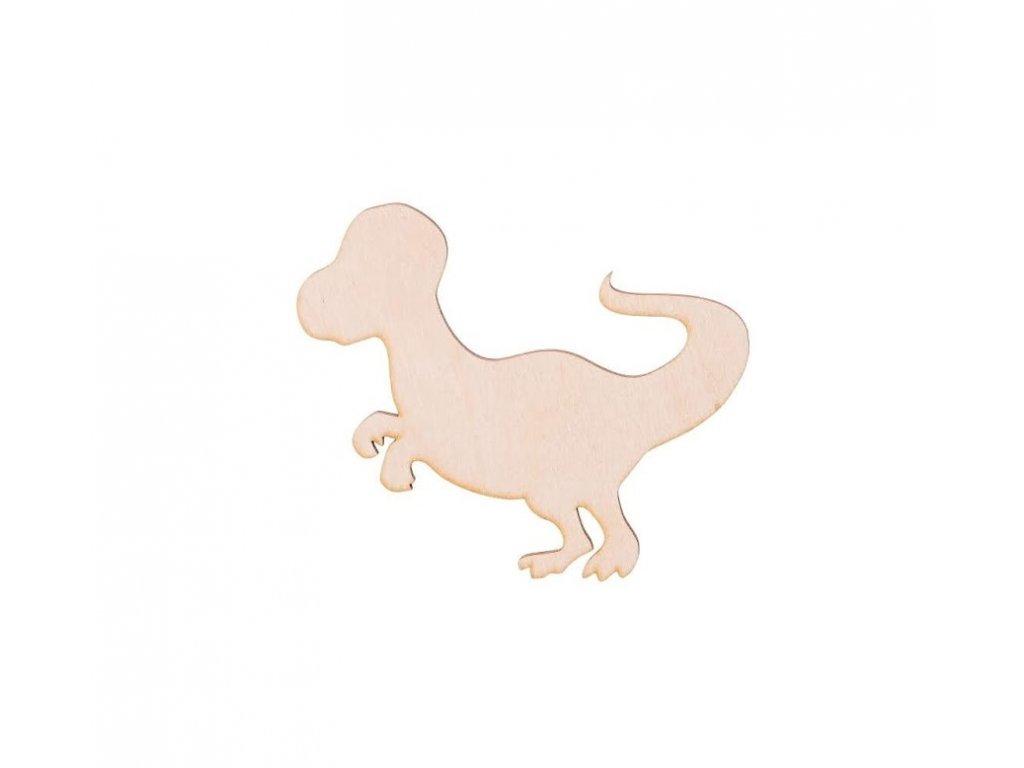 Dřevěný dinosaurus VI 10 x 9 cm