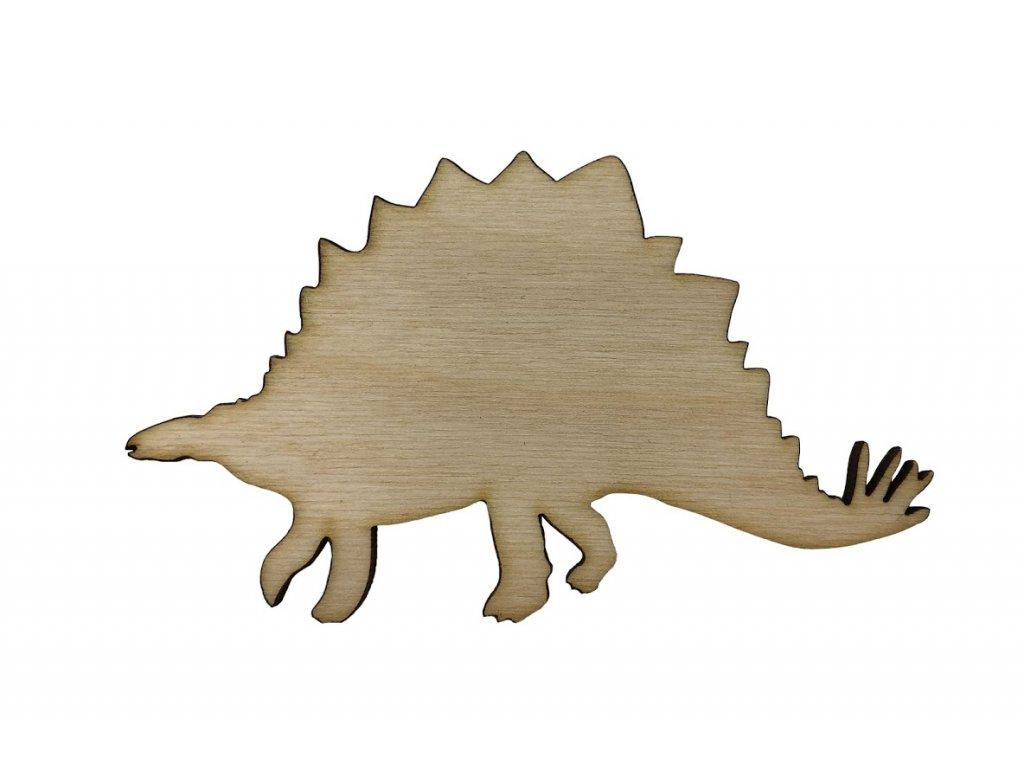 Dřevěný dinosaurus VII 10 x 6 cm