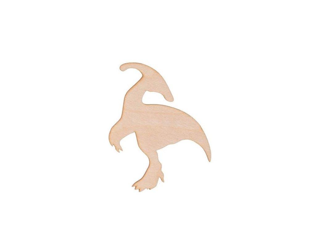 Dřevěný dinosaurus VIII 9.5 x 8 cm