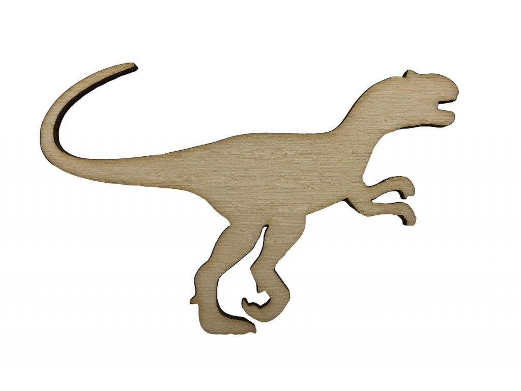 Dřevěný dinosaurus IX 10 x 6.5 cm