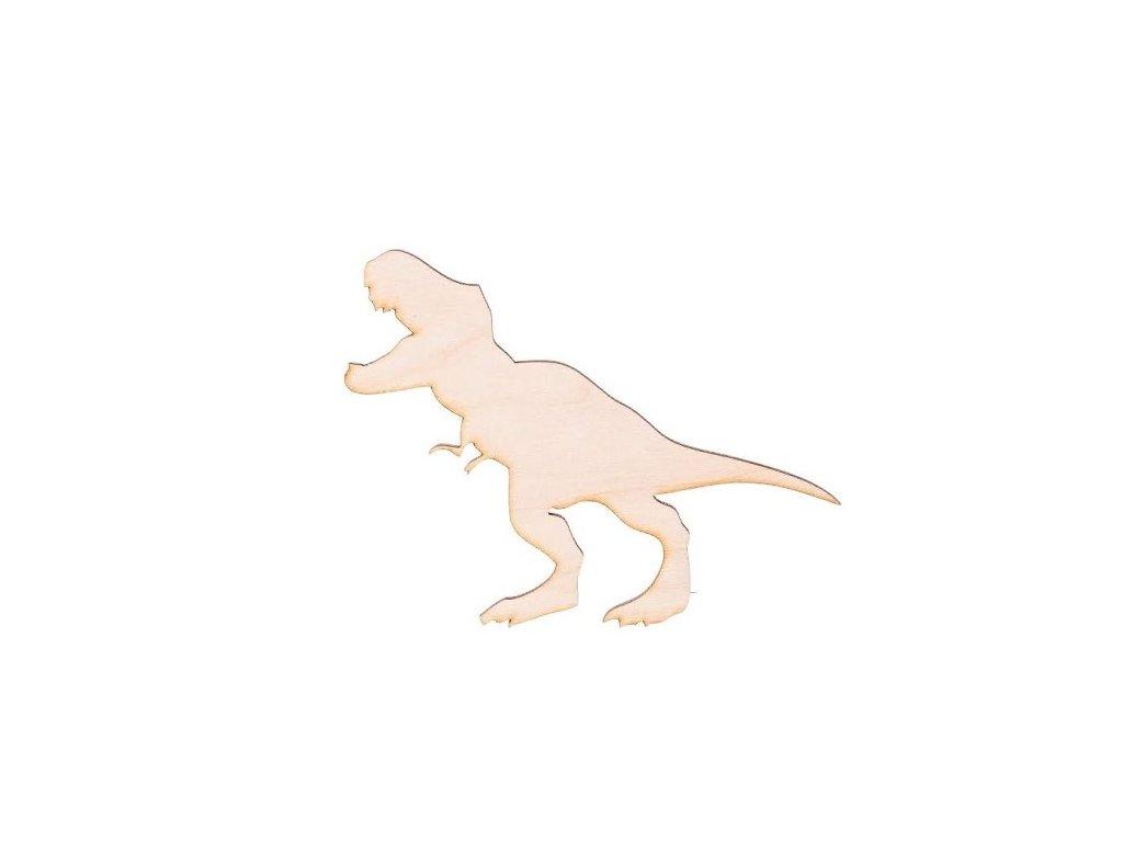 Dřevěný dinosaurus X 10.5 x 9 cm