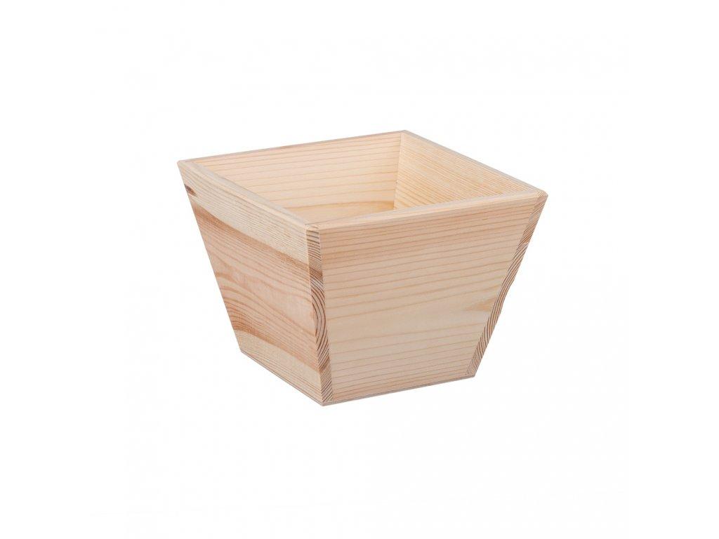 Dřevěný květináč - čtverec
