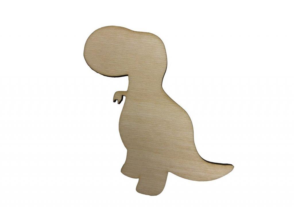 Dřevěný dinosaurus XI 8 x 8 cm