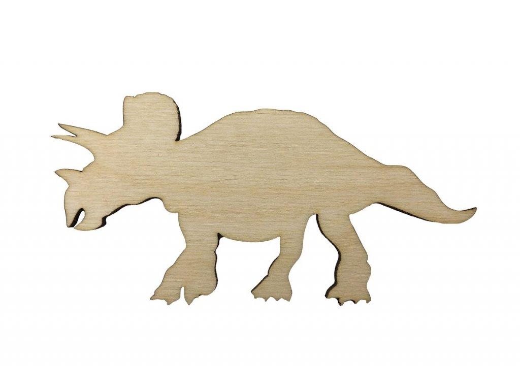 Dřevěný dinosaurus XIV 10 x 5 cm