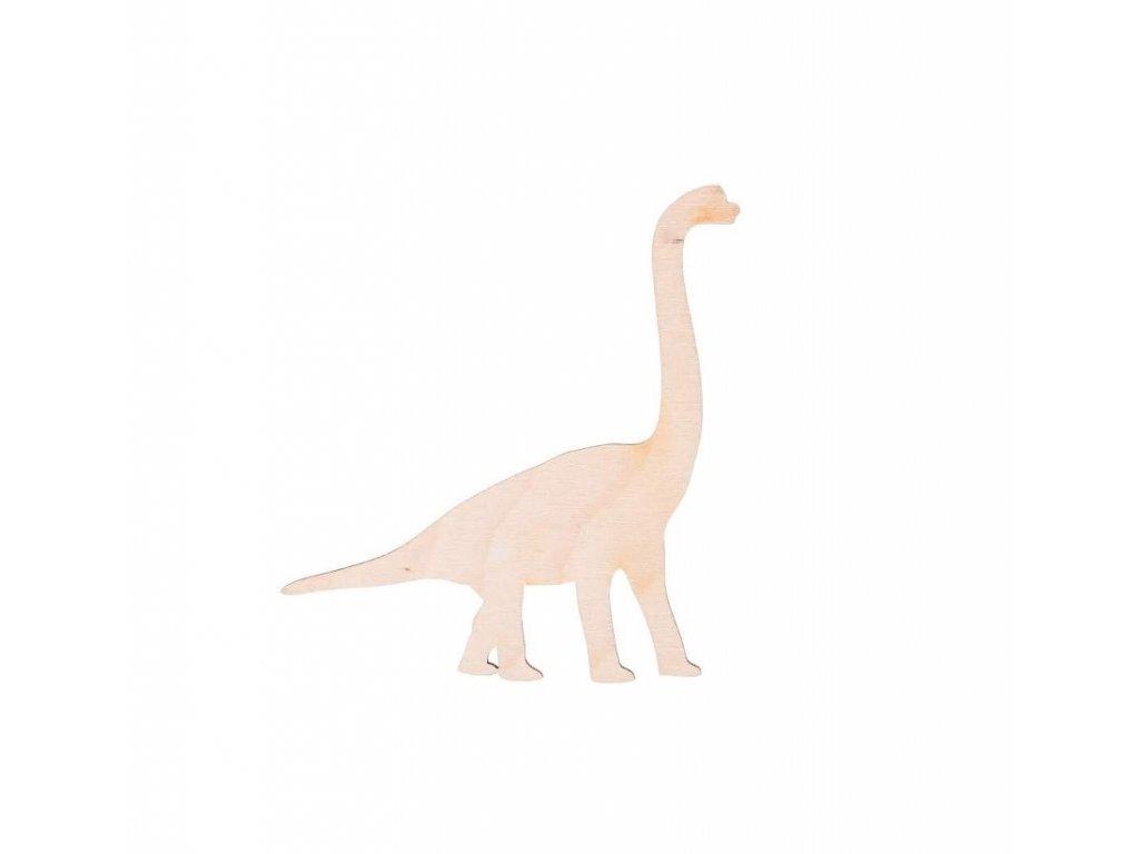 Dřevěný dinosaurus XV 11 x 11 cm