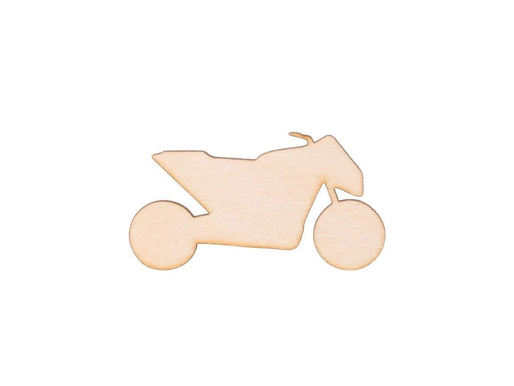 Dřevěná motorka 7 x 3.5 cm