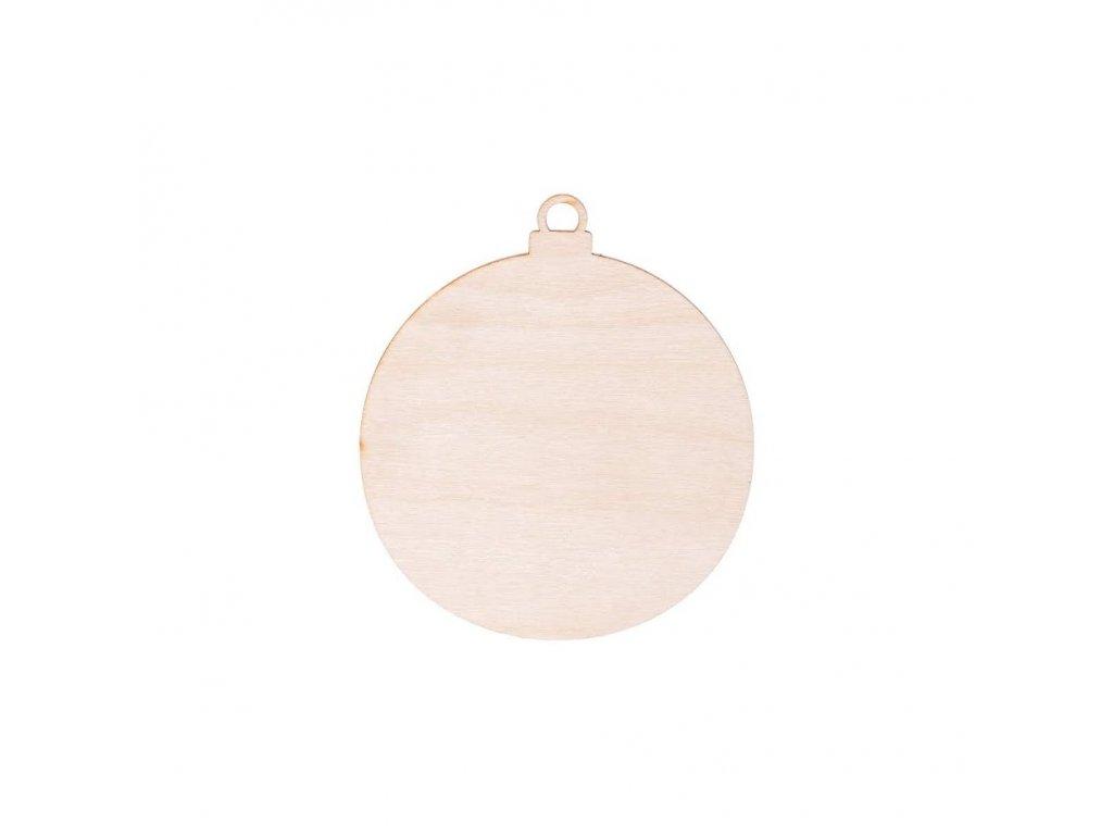 Dřevěná vánoční baňka 7 cm