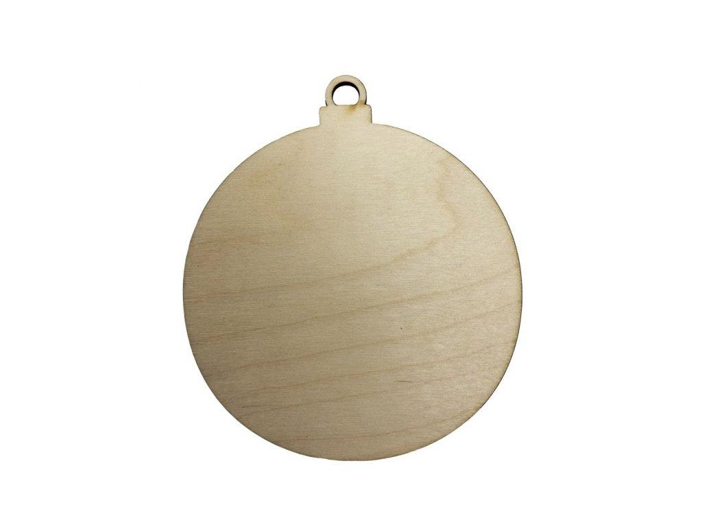 Dřevěná vánoční baňka 10 cm