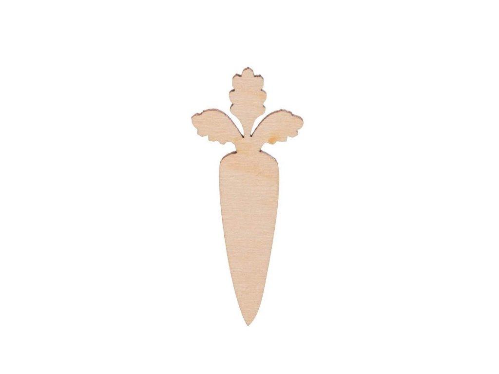 Dřevěná mrkev II 7 x 3 cm