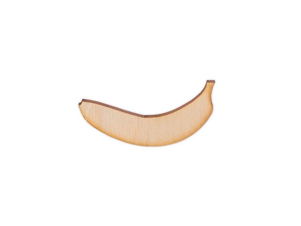 Dřevěný banán 6 x 3 cm