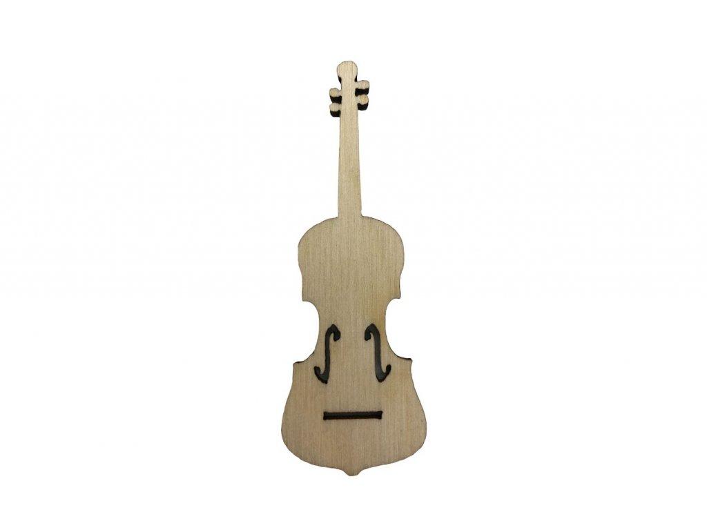 Dřevěné housle 7 x 2,5 cm