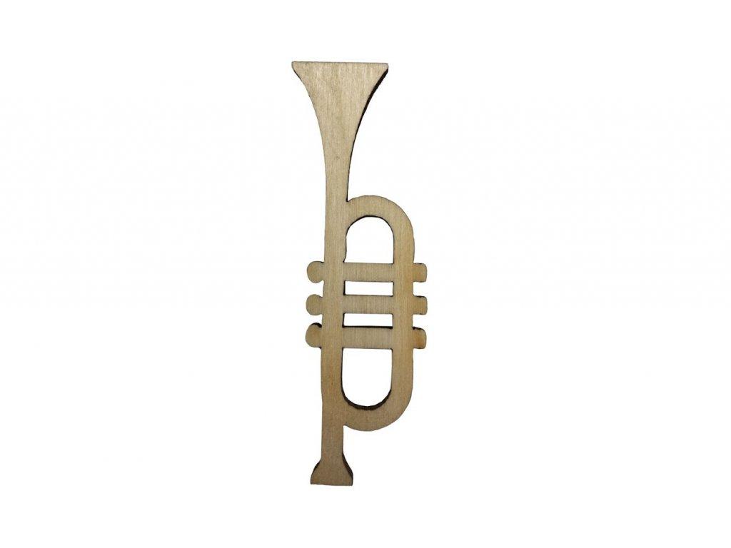Dřevěná trumpeta II 7 x 2 cm
