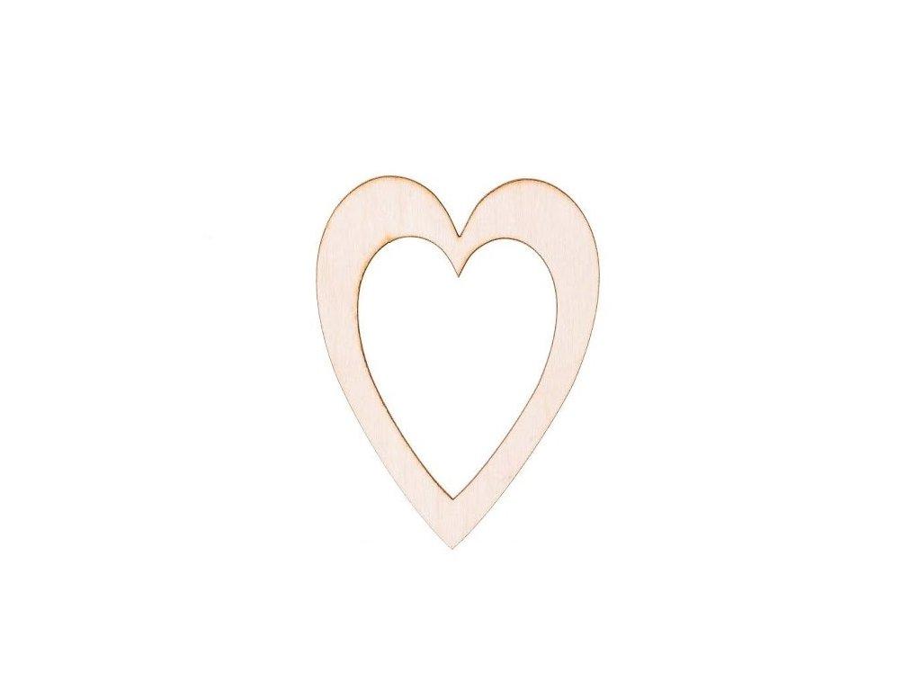 Dřevěné srdce v srdci II 10 x 7,5 cm