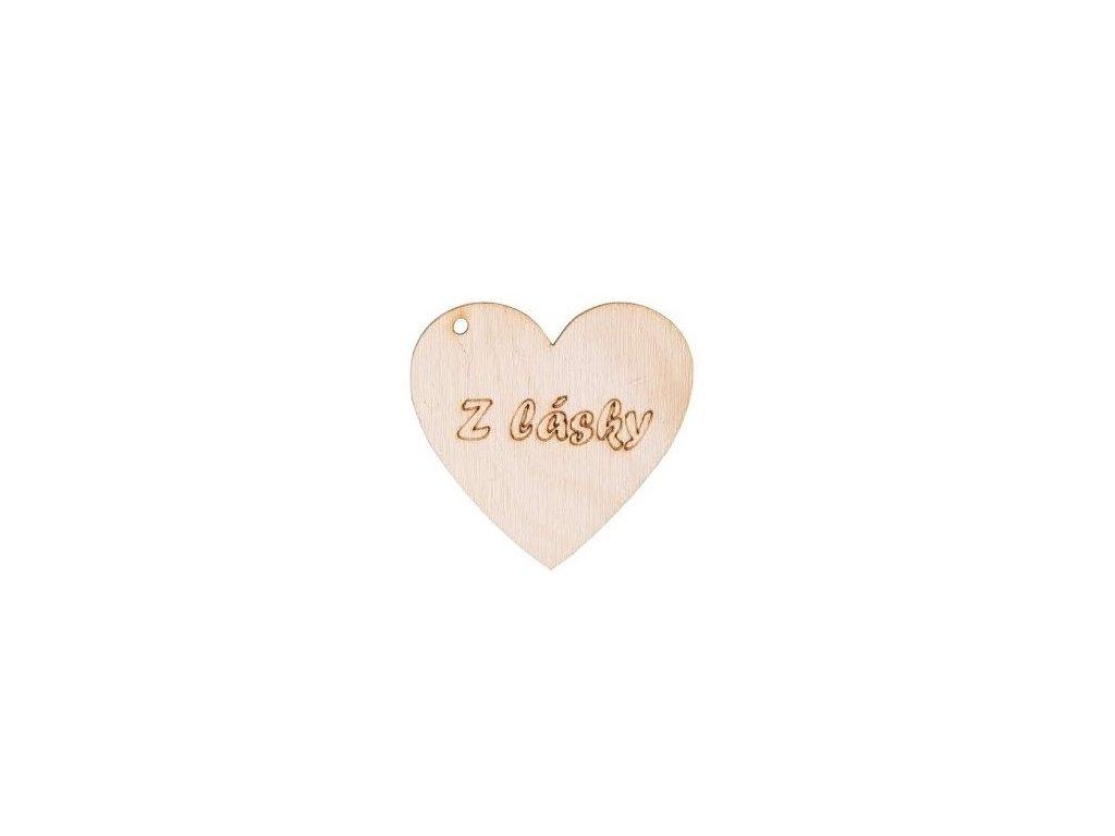 """Dřevěné srdce """"z lásky"""""""