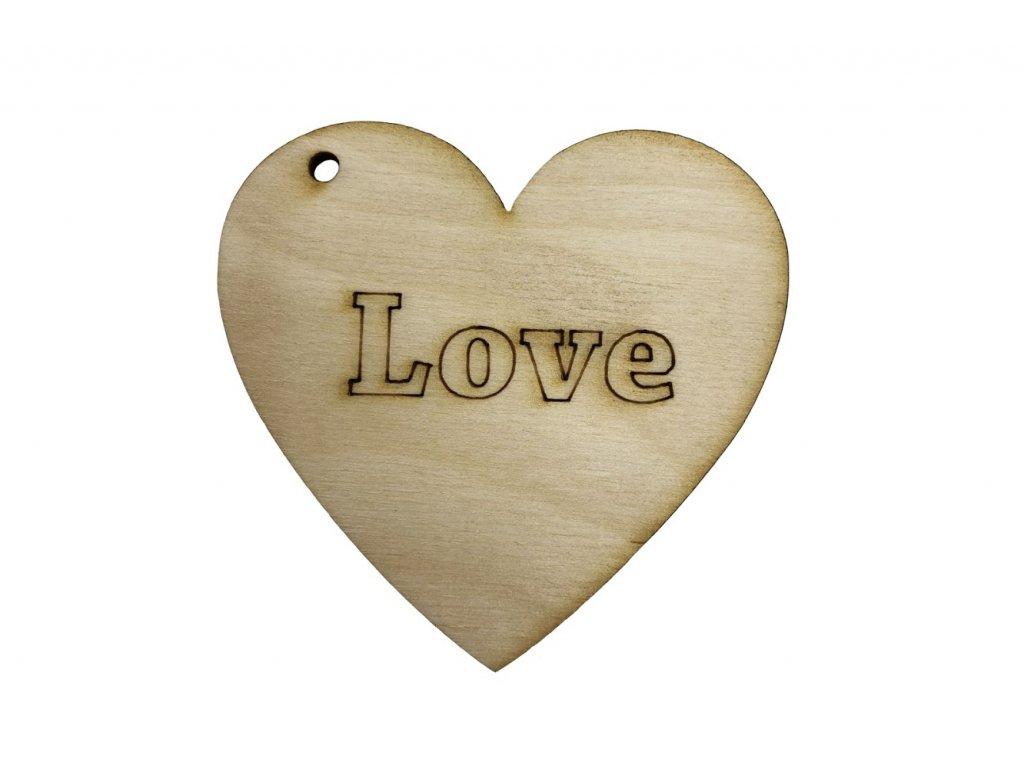"""Dřevěné srdce """"LOVE"""""""