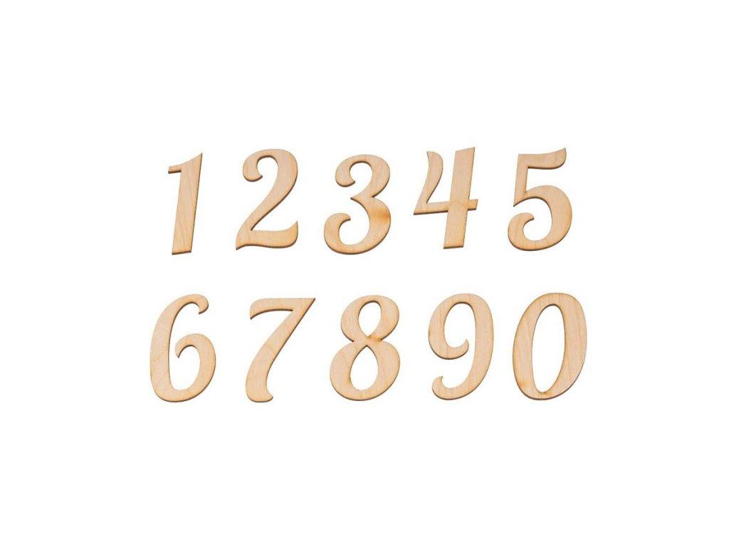 Dřevěná libovolná číslice I