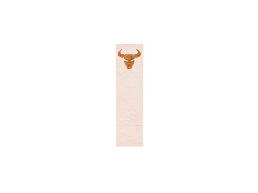 Dřevěná záložka do knihy - znamení Býk