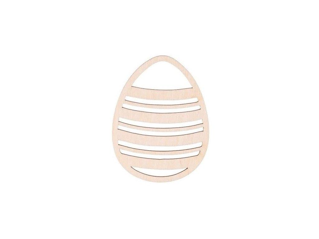 Dřevěné zdobené vajíčko I 10 x 8 cm