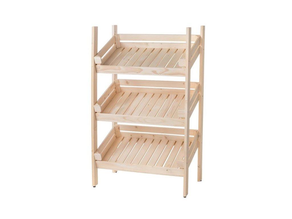 Regál dřevěný r3oz 120 x 74 x 46 cm