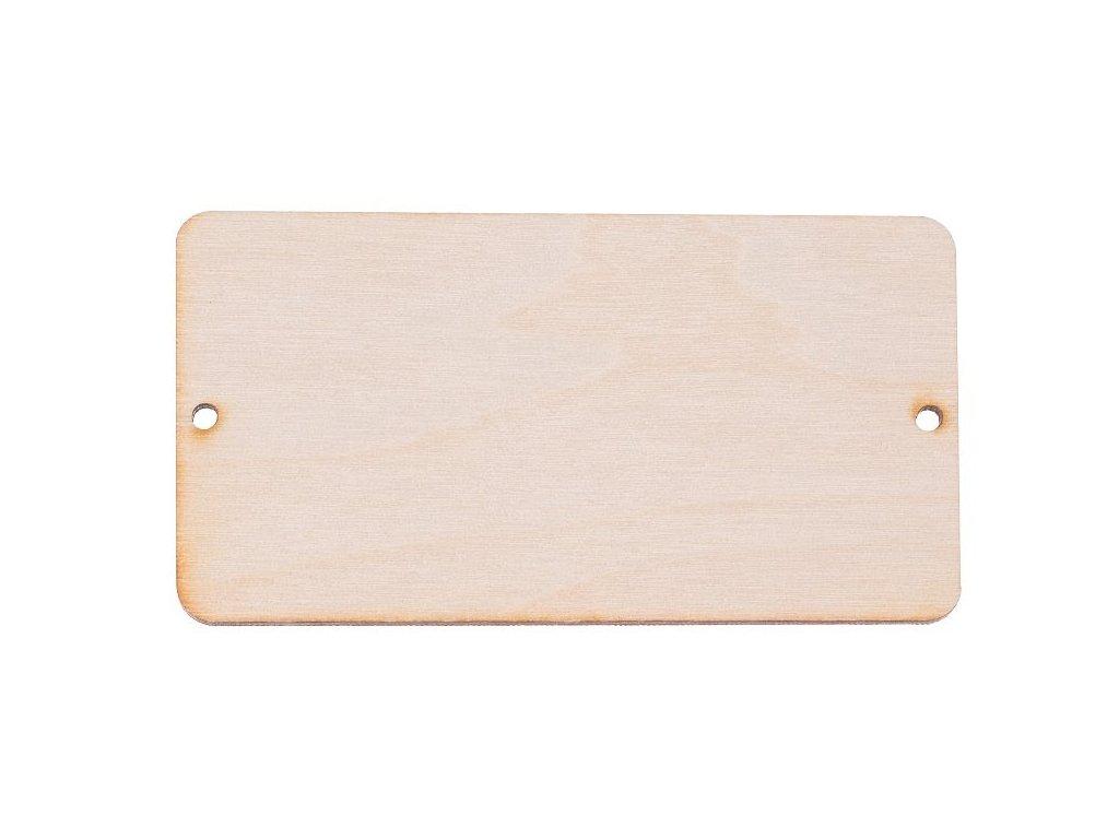 Dřevěná cedulka VIII