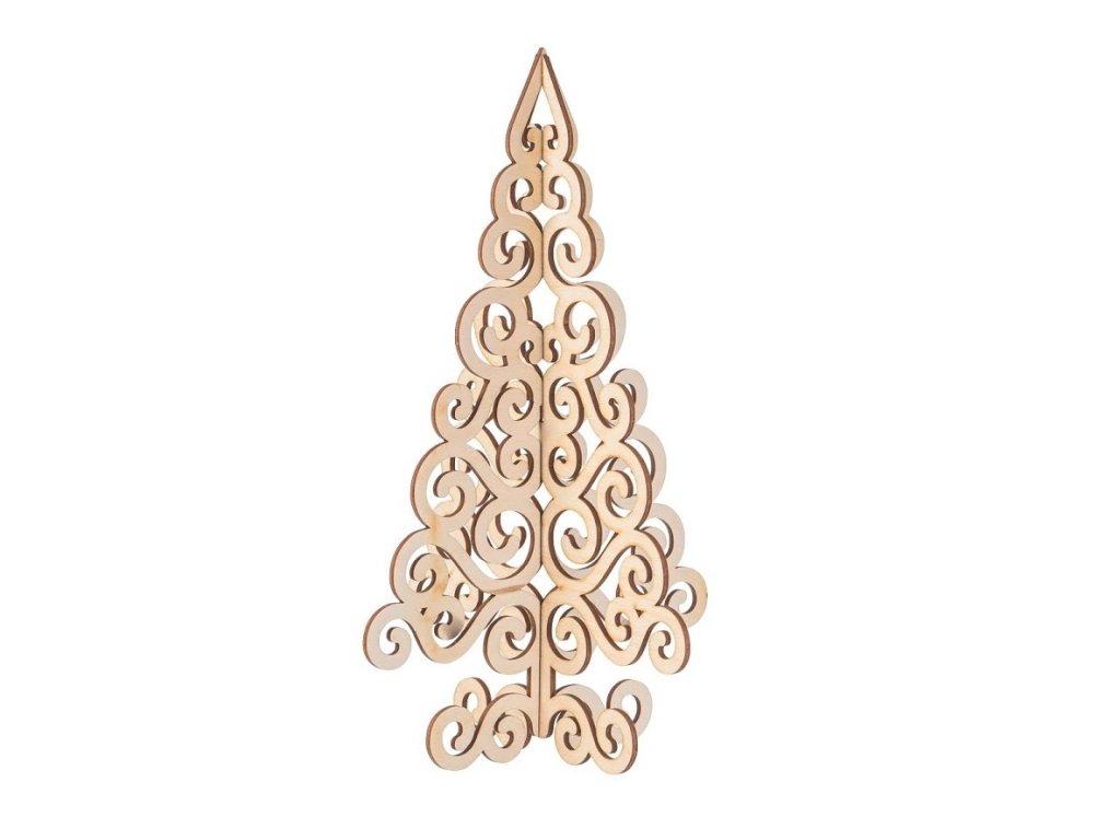 Dřevěný vánoční stromeček na postavení I