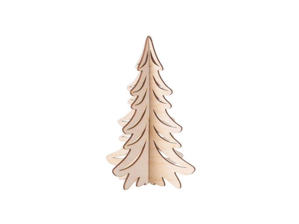 Dřevěný vánoční stromeček na postavení II